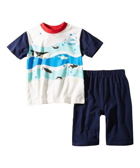 4bcf17fe4ba3e ... 光るプリントパジャマ(半袖Tシャツ+ハーフパンツ)(男の子・女の子 子供