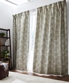 【送料無料!】繊細なリーフ柄。遮熱。遮光カーテン ブラックフォーマルの商品画像