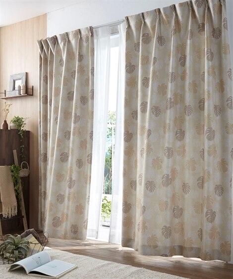 モンステラ柄カーテン ドレープカーテン(遮光あり・なし) Curtains, blackout curtains, thermal curtains, Drape(ニッセン、nissen)