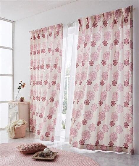 【送料無料!】クロッシェレース調フラワー柄カーテン 遮光なし...