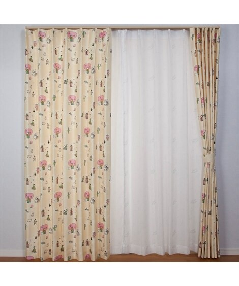【送料無料!】日本の昔話カーテン 遮光なしカーテン...