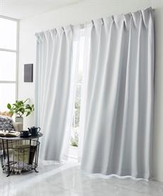 【送料無料!】真っ白な遮熱。遮光カーテン ドレープカーテン(遮光あり・なし)の商品画像