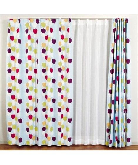 【送料無料!】北欧調。りんご柄。遮光カーテン ドレープカーテン(遮光あり・なし) Curtains, 窗?, 窗簾