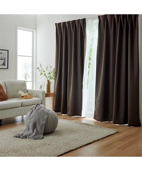 【送料無料!】ストライプ刺繍。遮熱。遮光カーテン 遮光カーテ...
