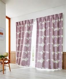 送料無料!<ニッセン>カジュアルカーテン ドレープカーテン(遮光あり・なし) 4