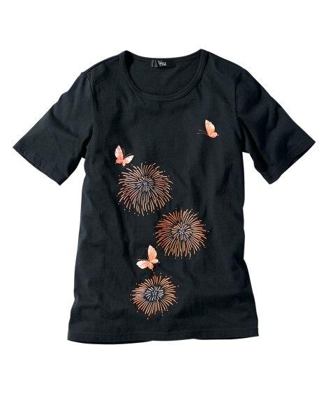 綿100%プリントTシャツ 【大きいサイズレディース】