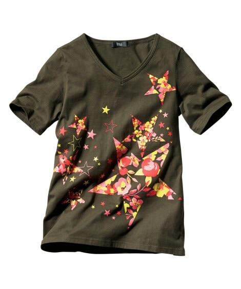 綿100%プリントTシャツ 【大きいサイズレディース】Tシャ...