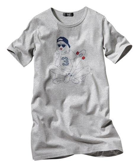 綿100%プリントチュニック 【大きいサイズレディース】Tシャツ・カットソー
