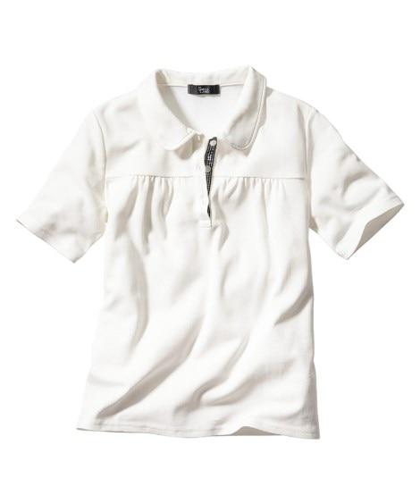 半袖ポロシャツ(UVカット) 【大きいサイズレディース】ポロシャツ