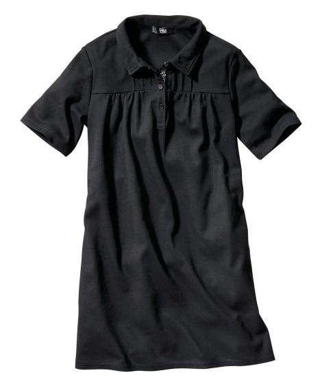 半袖ポロシャツチュニック(UVカット) 【大きいサイズレディース】ポロシャツ