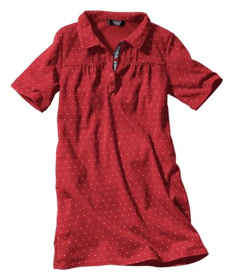 半袖ポロシャツチュニック(UVカット) (大きいサイズレディ...