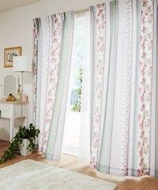 【送料無料!】パッチワーク調フェミニンカーテンの商品画像