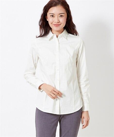 ストレッチシャツ(選べるバスト) (大きいサイズレディース)...