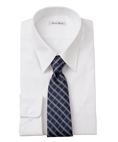 おなかゆったり形態安定長袖ワイシャツ(レギュラーカラ―) 大...