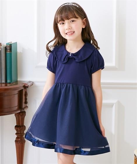 831499af35129 黒  衿付フォーマルワンピース(女の子 子供服)()-()02