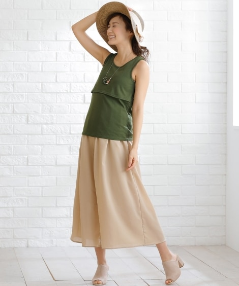 【授乳服 産前 産後】マタニティタンクトップ (マタニティ・...