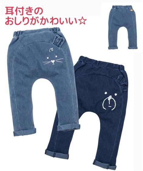 924b516ed8a81 紺  7分丈モンキーパンツ(男の子・女の子 子供服・ベビー服)(パンツ ...