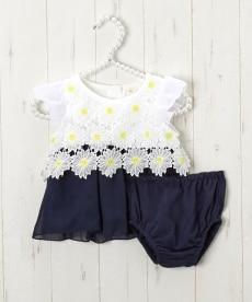 172fb4f0e2ebc マーガレットレース ブルマスーツ(ワンピース+ブルマ)(女の子 子供服・ベビー服)