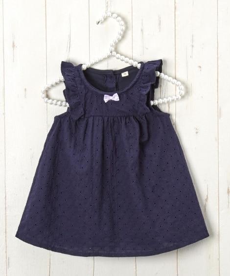 インナーロンパース付きワンピース(女の子 子供服。ベビー服)...