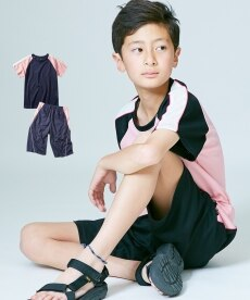2b729ab83d60ea ラグランミニブリスターTスーツ上下セット(半袖Tシャツ+ハーフパンツ)(