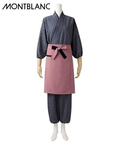 MONTBLANC 作務衣パンツ(元禄格子柄)(女性用) 【業務用】コック服