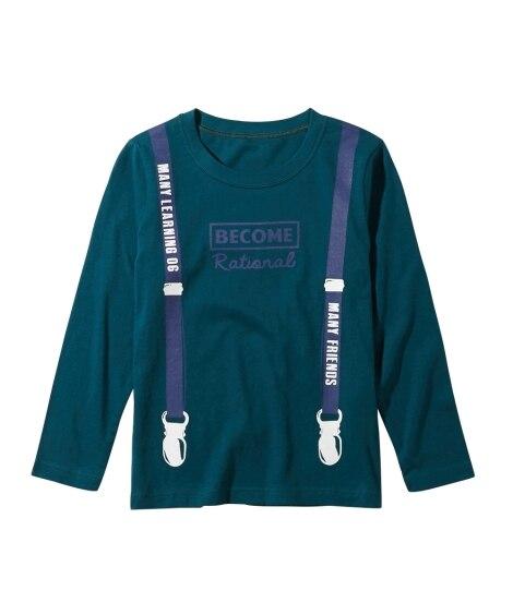 綿100% 10柄から選べるプリント長袖Tシャツ(男の子。女...