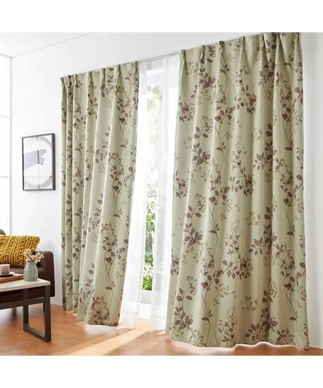 【送料無料!】リーフ柄1級遮光カーテン&レースセット カーテン&レースセット, Curtains, sheer curtains, net curtains(ニッセン、nissen)