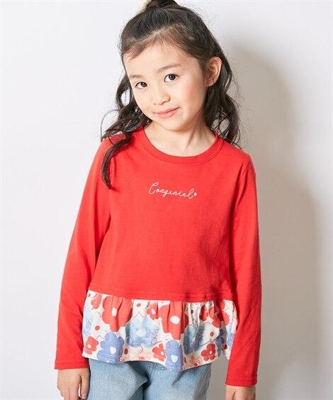 選べる4デザイン♪カットソー切替Tシャツ(女の子 子供服) ...