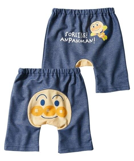 【アンパンマン】おしりがかわいい。5分丈モンキーパンツ(男の子。女の子 子供服。ベビー服) 【ベビー服】Babywear