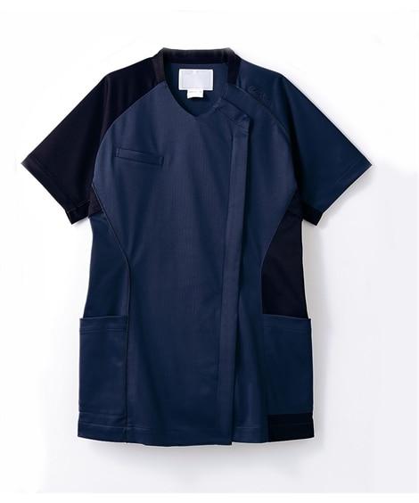 asics 半袖スクラブ(レディス) ナースウェア・白衣・介護ウェア