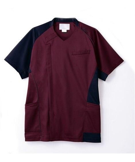 asics 半袖スクラブ(メンズ) ナースウェア・白衣・介護ウェア