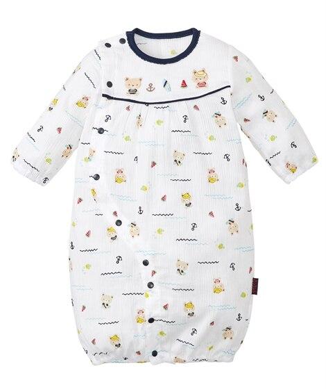 薄手コットン 長袖ツーウェイドレス(男の子。女の子 子供服。ベビー服) 【ベビー服】Babywear