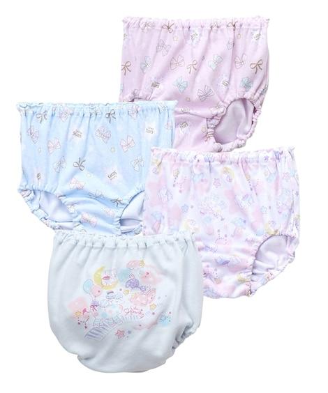 綿100%ショーツ4枚組(女の子 子供服) キッズ下着, Kid's Underwear