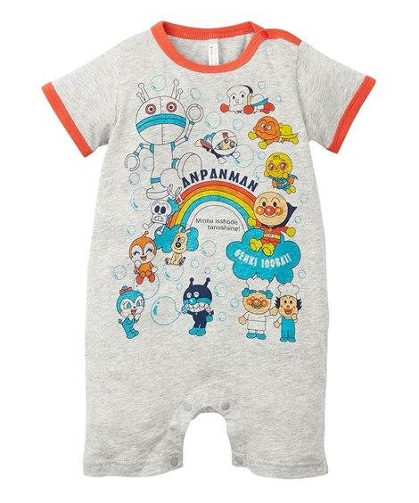 【アンパンマン】一分丈半袖プリントカバーオール(男の子。女の子 子供服。ベビー服) 【ベビー服】Babywear