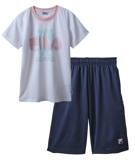 【FILA(フィラ)】Tスーツ(半袖Tシャツ+ハーフパンツ)(女の子 子供服 ジュニア服) キッズパジャマ, Kids' Pajamas
