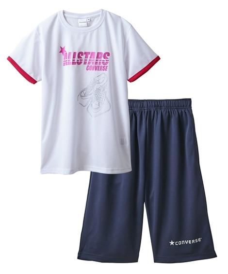 【CONVERSE(コンバース)】Tスーツ(半袖Tシャツ+ハーフパンツ)(女の子 子供服 ジュニア服) キッズパジャマ, Kids' Pajamas