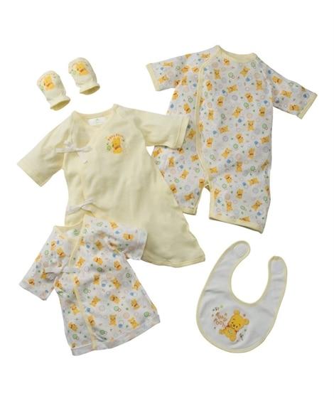 ディズニー&スヌーピー新生児ギフト5点セット(スタイ+ミトン+短肌着+コンビ肌着+兼用肌着) 【ベビー服】Babywear