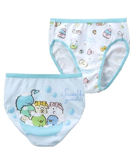 【すみっコぐらし】ショーツ2枚組(女の子 子供服。ジュニア服) キッズ下着, Kid's Underwear
