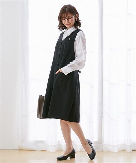 【産前・産後】オフィス・事務服ラップワンピース (マタニティウエア・授乳服) Maternity clothing