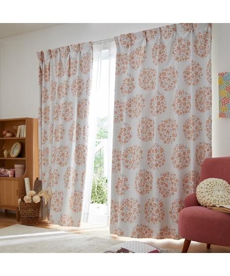 1級遮光・遮熱・防音カーテン&レースセット(ほっこり北欧フラワー) カーテン&レースセット, Curtains, sheer curtains, net curtains(ニッセン、nissen)