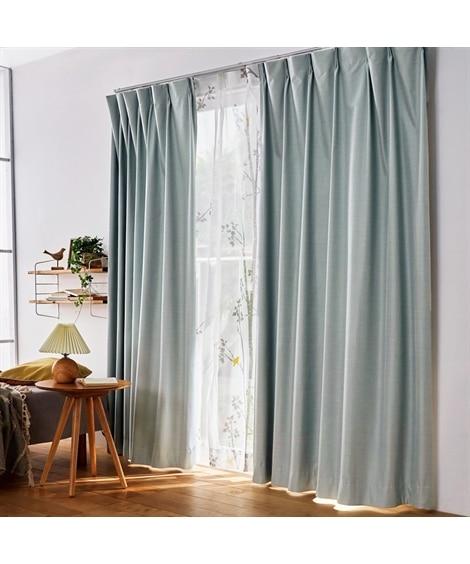 1級遮光・遮熱・防音カーテン&シラカバ柄レースセット カーテン&レースセット, Curtains, sheer curtains, net curtains(ニッセン、nissen)