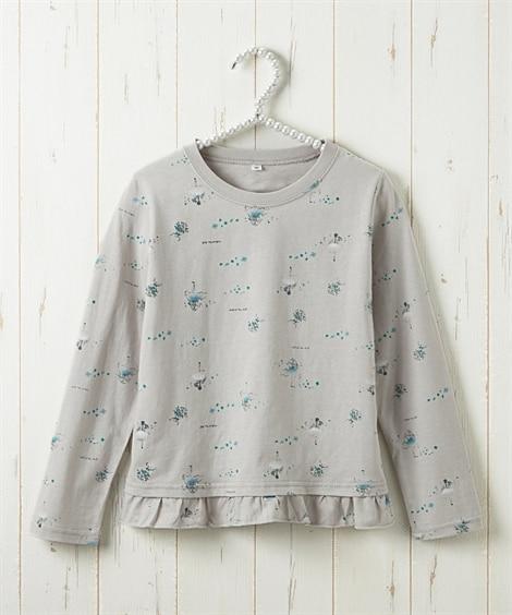 選べる4デザイン♪綿100%Tシャツ(女の子 子供服) (Tシャツ・カットソー)Kids' T-shirts