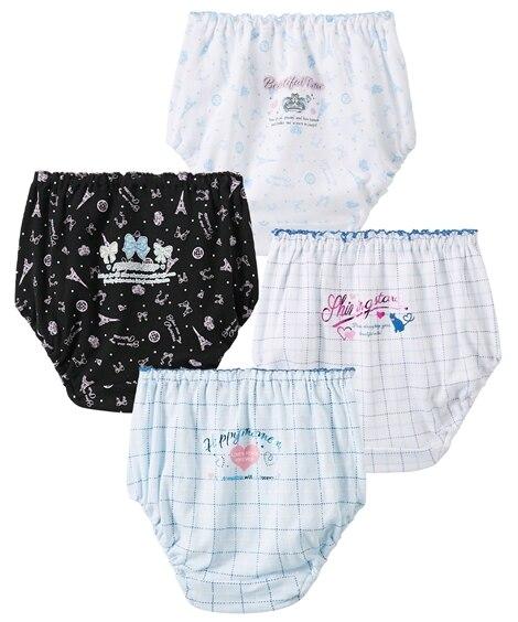 綿100%ショーツ4枚組(女の子 子供服・ジュニア服) キッズ下着, Kid's Underwear