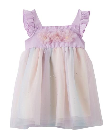 レインボーチュール重ね ノースリーブワンピース(ベビー服・子供服 女の子) 【ベビー服】Babywear