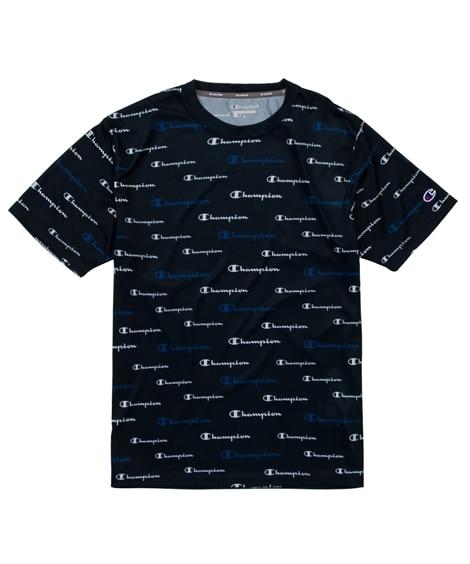 Champion(チャンピオン)速乾。防臭 総柄ロゴプリント半袖Tシャツ(C VAPOR/C ODORLESS) 【レディーススポーツウェア】Sportswear