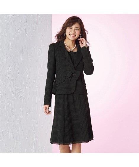 【入園。入学。卒園。卒業】ラメ入変り織スーツ(ジャケット+ス...