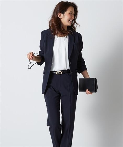 防汚加工◎すごく伸びる裏地無ロング丈パンツスーツ(トール丈)【レディーススーツ】 (レディース)スーツ, women's suits,  plus size women's suits