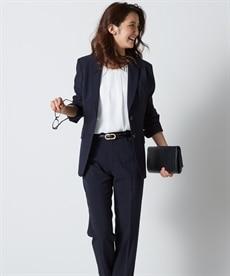 <ニッセン> 防汚加工◎すごく伸びる裏地無ロング丈パンツスーツ(トール丈)【レディーススーツ】 (レディース)スーツ women's suits  plus size women's suits
