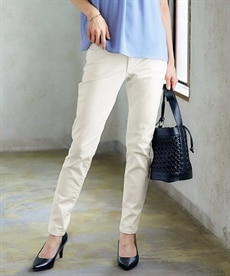 <ニッセン>【秋の新色登場♪】すごく伸びる綿混スキニーパンツ(股下68cm) (レディースパンツ)Pants