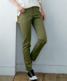 <ニッセン>【秋の新色登場♪】すごく伸びる綿混スキニーパンツ(股下76cm) (レディースパンツ)Pants